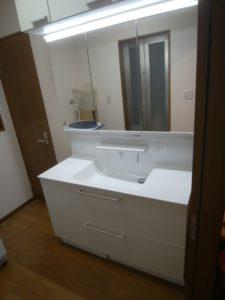 清瀬市内戸建住宅 洗面化粧台の交換工事